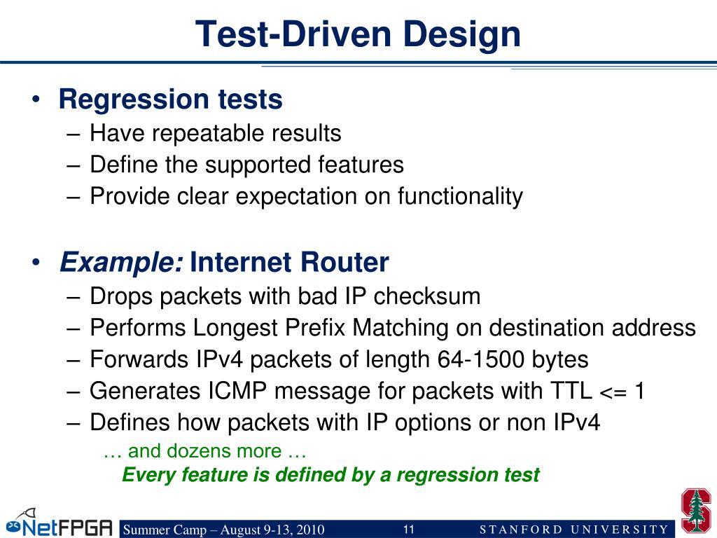 Test-Driven Design