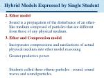 hybrid models expressed by single student25