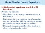 mental models context dependence