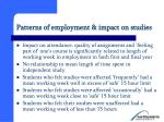patterns of employment impact on studies