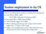 student employment in the uk