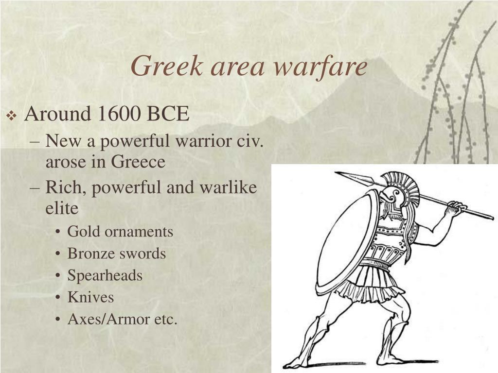 Greek area warfare