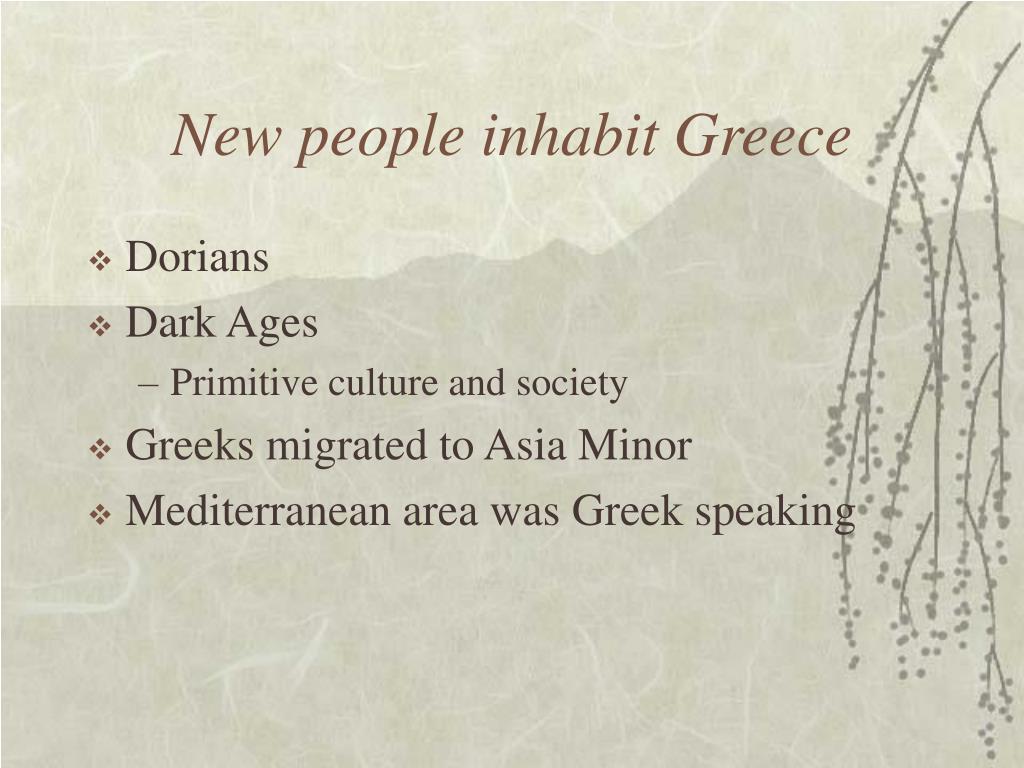 New people inhabit Greece