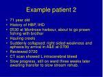 example patient 2