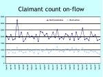claimant count on flow