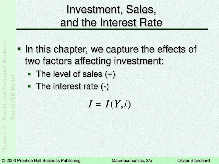 Investment sales and the interest rate