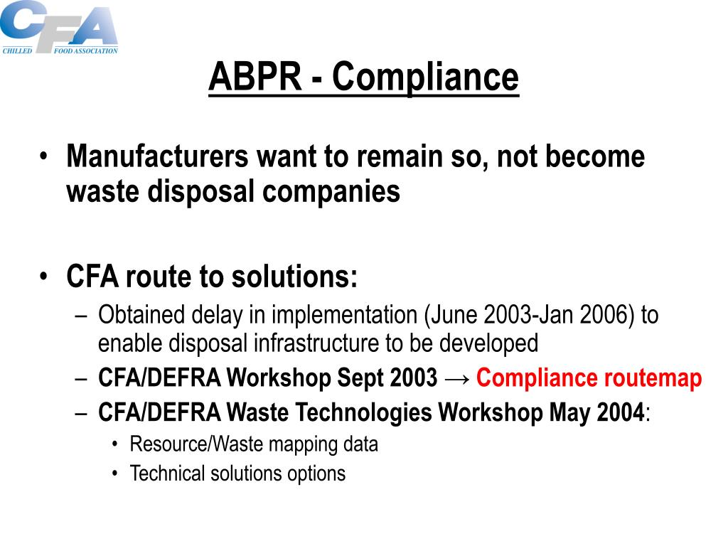 ABPR - Compliance
