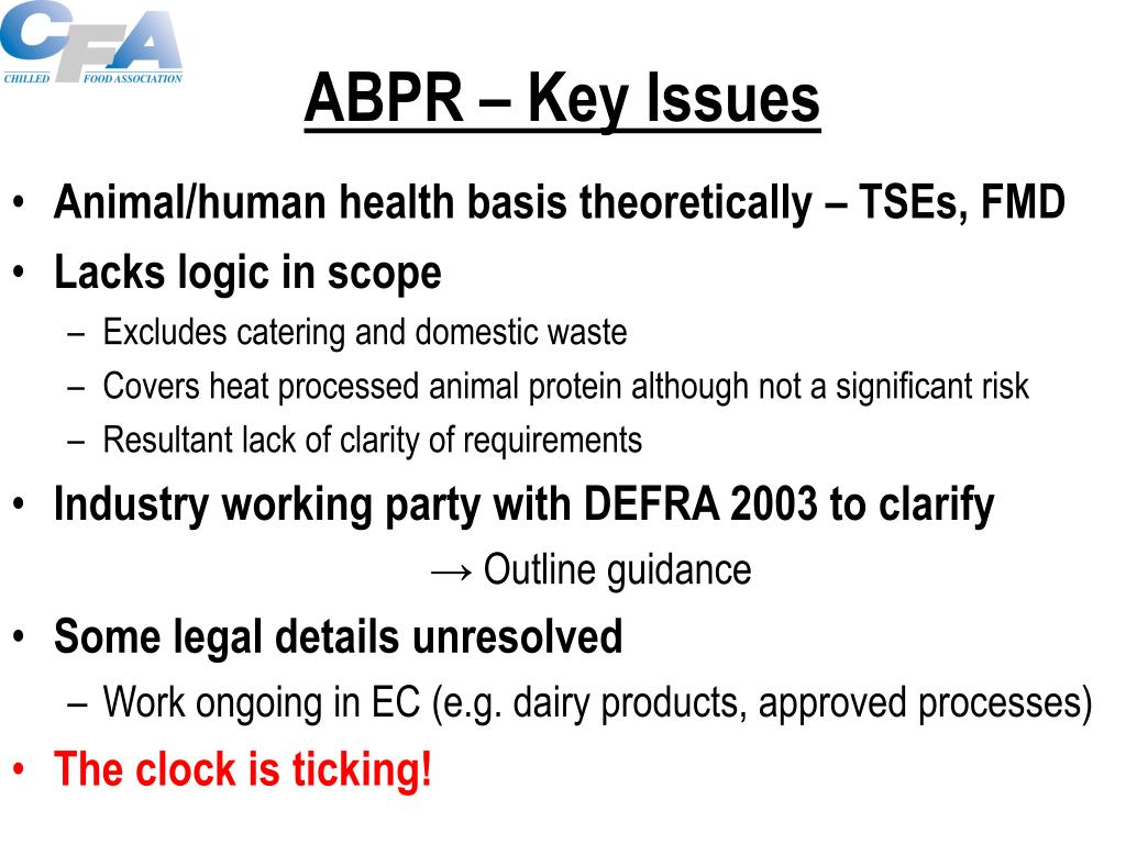 ABPR – Key Issues