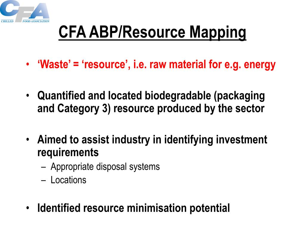 CFA ABP/Resource Mapping