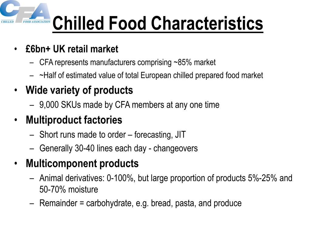 Chilled Food Characteristics