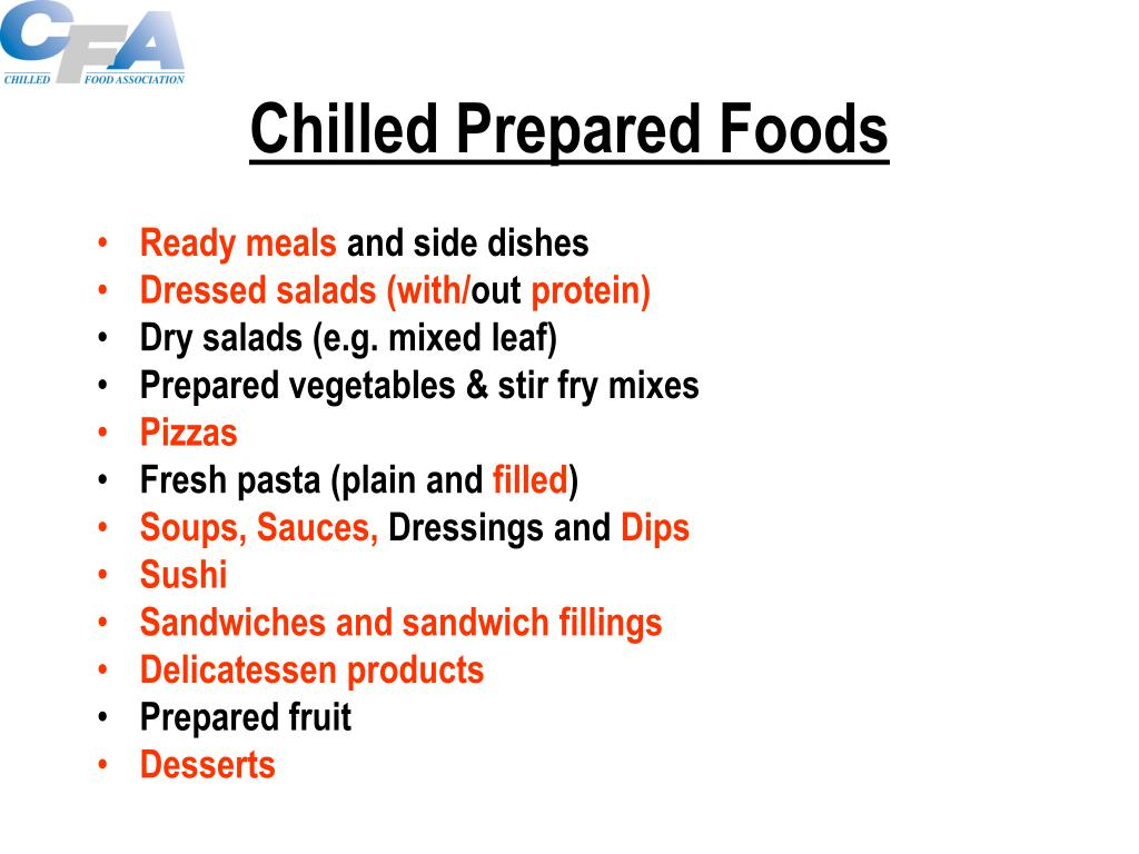 Chilled Prepared Foods