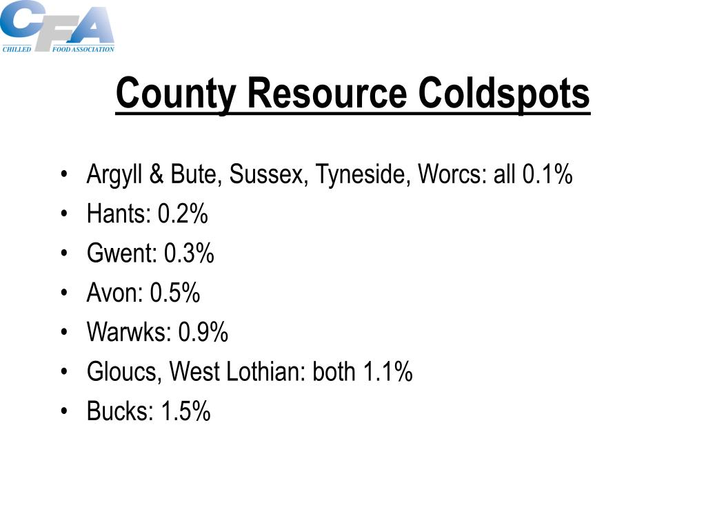 County Resource Coldspots