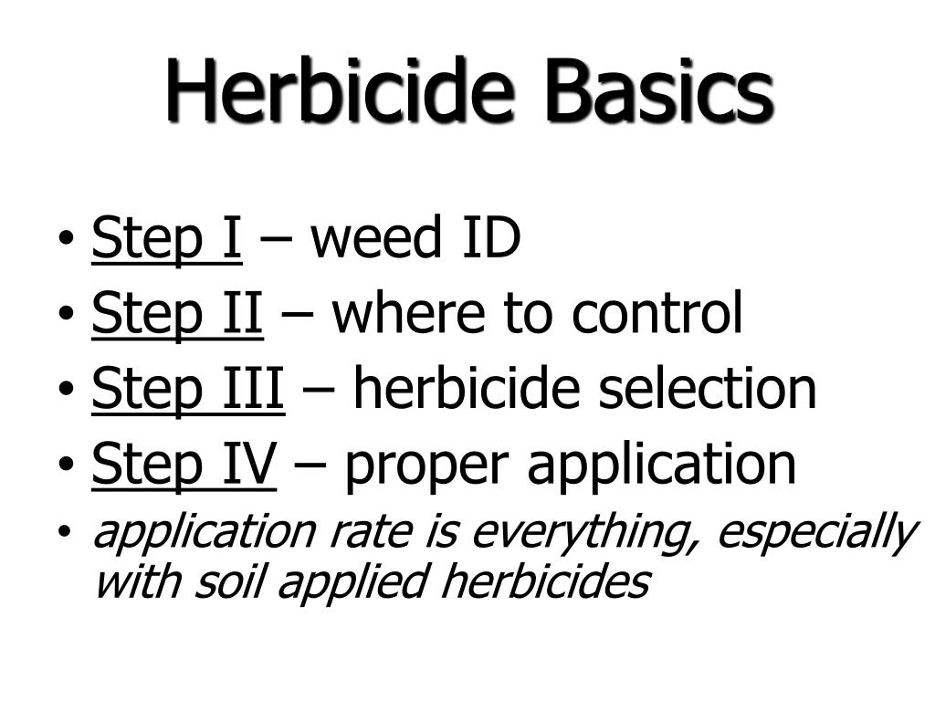 Herbicide Basics