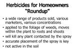 herbicides for homeowners roundup