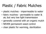 plastic fabric mulches
