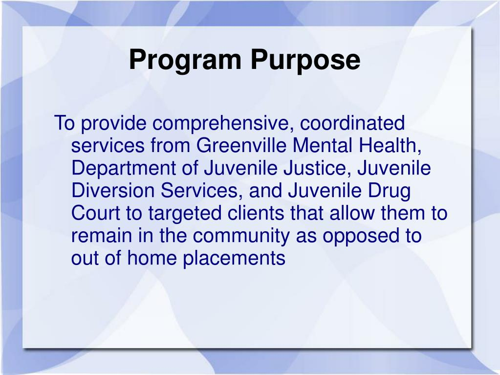 Program Purpose