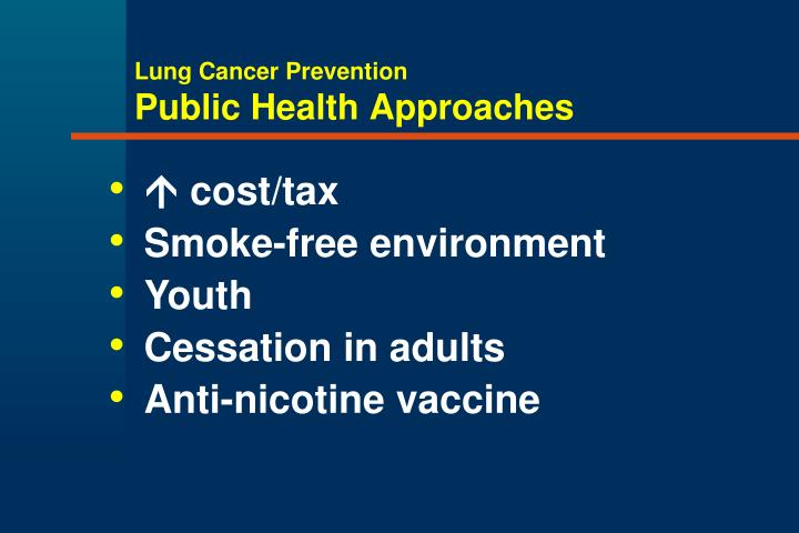Lung cancer prevention public health approaches