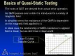 basics of quasi static testing