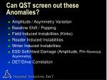 can qst screen out these anomalies