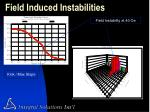 field induced instabilities