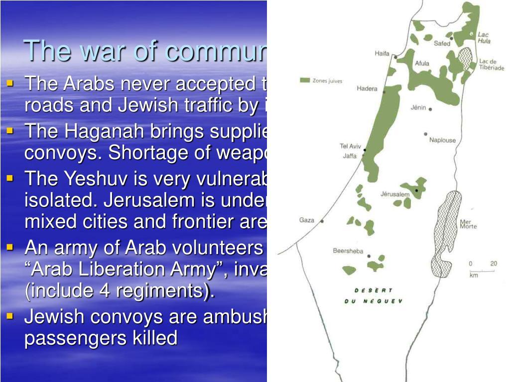 The war of communities (12/47-4/48)