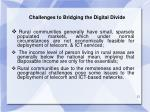 challenges to bridging the digital divide