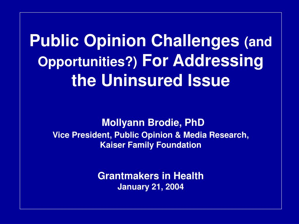 Public Opinion Challenges