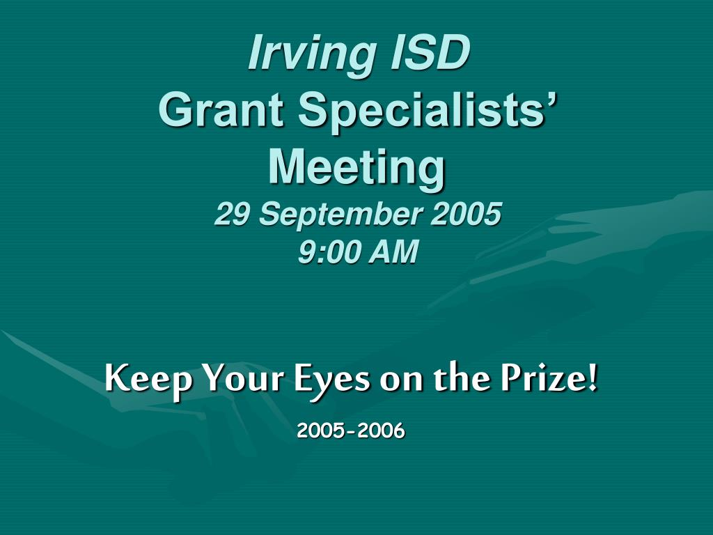 irving isd grant specialists meeting 29 september 2005 9 00 am
