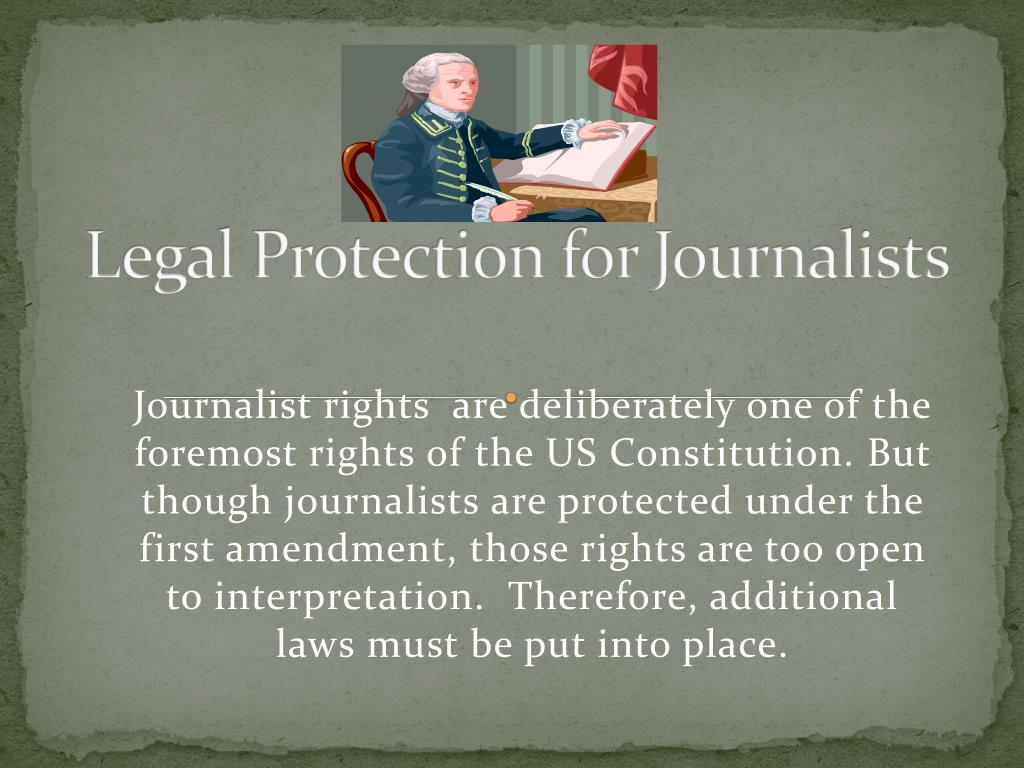 Legal Protection for Journalists