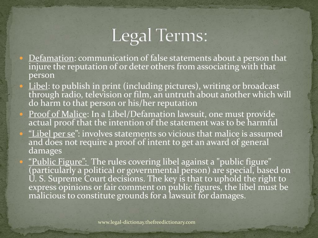 Legal Terms: