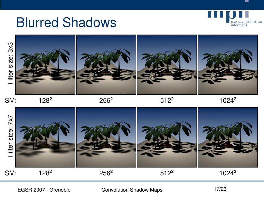 Blurred Shadows