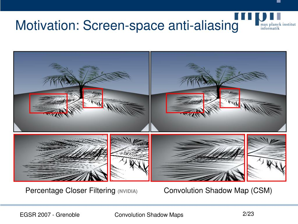 Motivation: Screen-space anti-aliasing