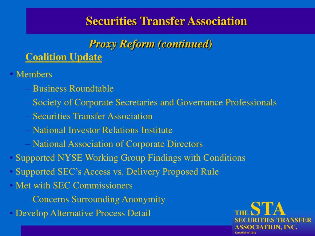 Securities Transfer Association
