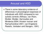 arousal and asd