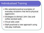 individualised training34