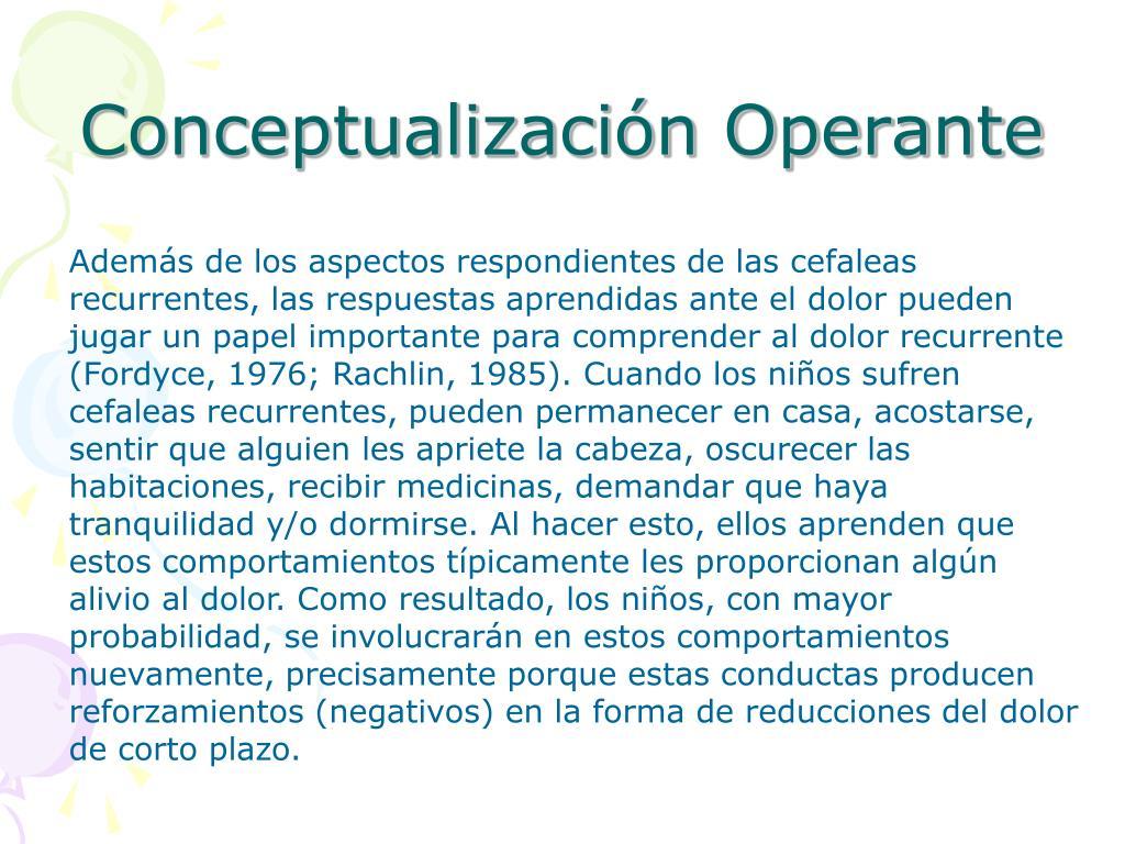 Conceptualización Operante