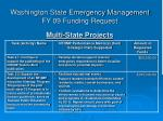 washington state emergency management fy 09 funding request multi state projects