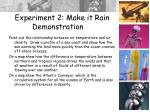 experiment 2 make it rain demonstration