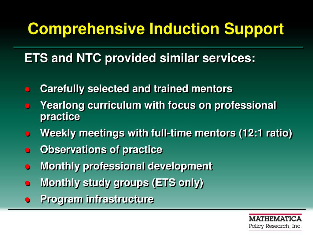 Comprehensive Induction Support