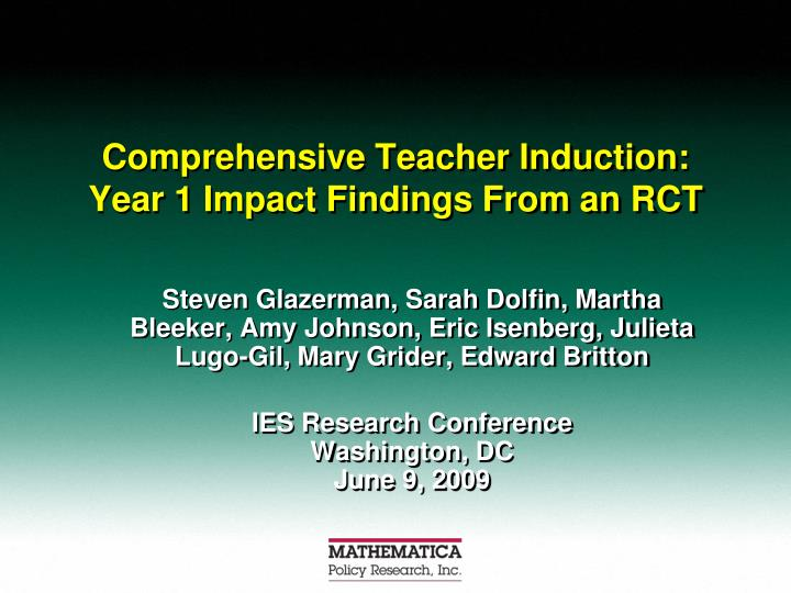 Comprehensive teacher induction year 1 impact findings from an rct l.jpg