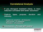 correlational analysis