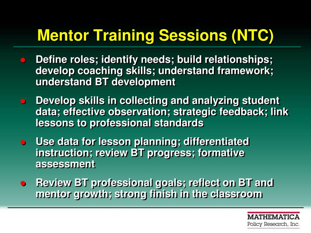 Mentor Training Sessions (