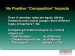 no positive composition impacts