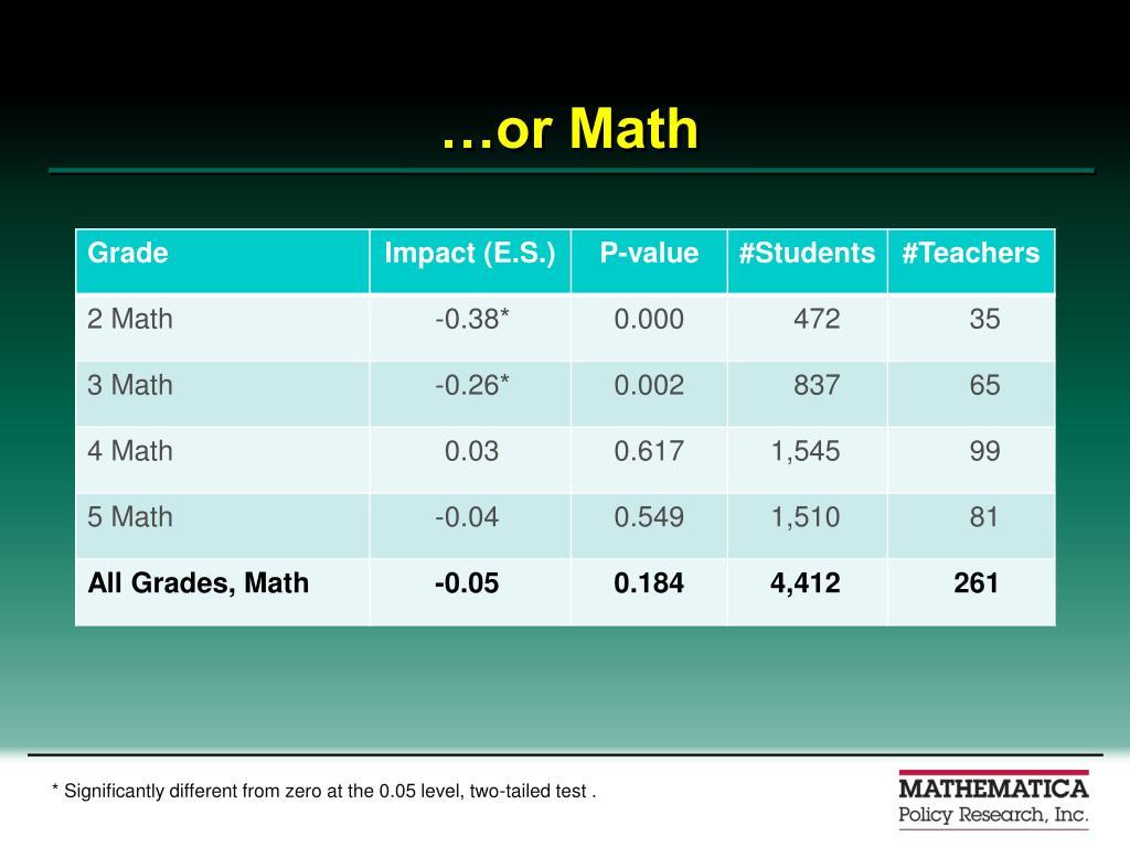 …or Math
