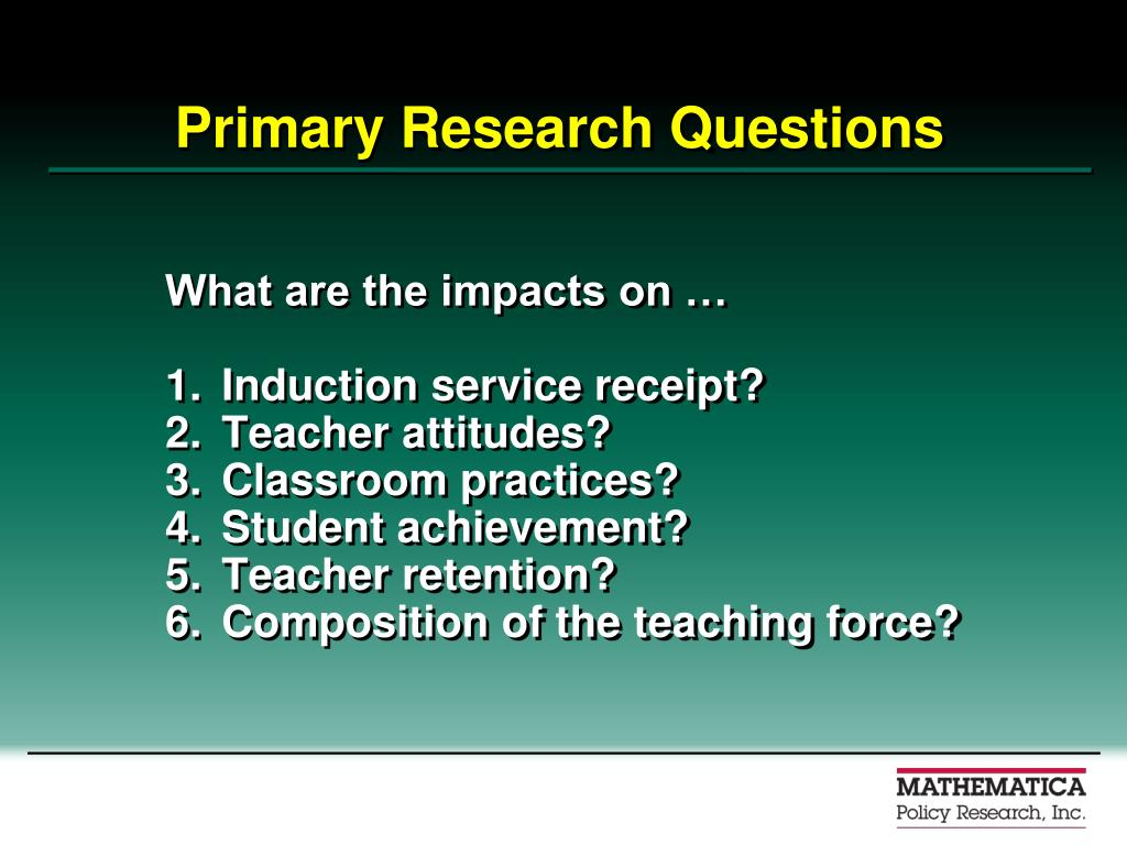Primary Research Questions