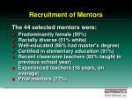 recruitment of mentors
