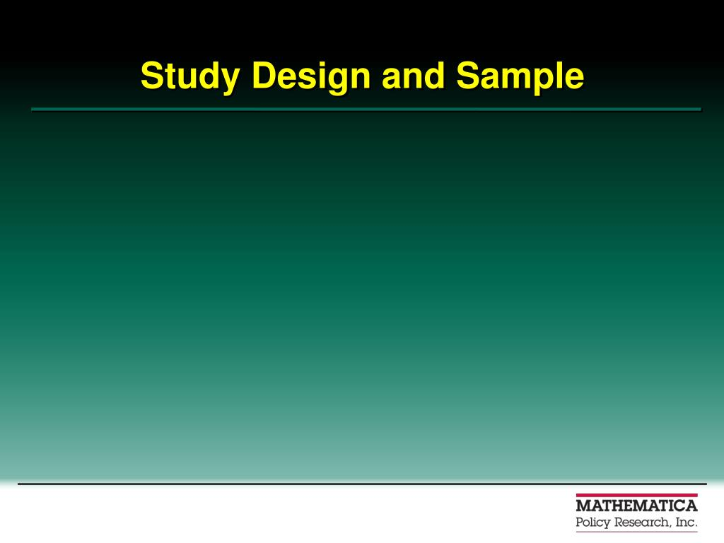 Study Design and Sample