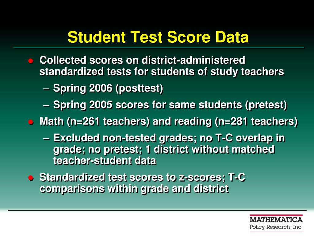 Student Test Score Data