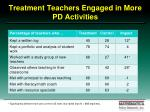 treatment teachers engaged in more pd activities86