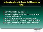 understanding differential response rates
